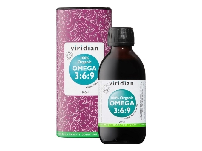 VIRIDIAN nutrition 100% Organic Omega 3:6:9 Oil 200ml.