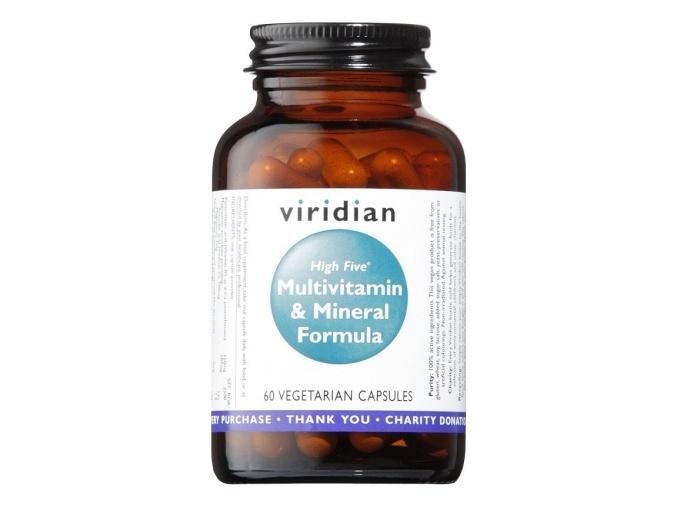 VIRIDIAN nutrition High B5 Multivitamin & Mineral 60 kapslí