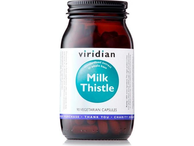 VIRIDIAN nutrition Milk Thistle 90 kapslí