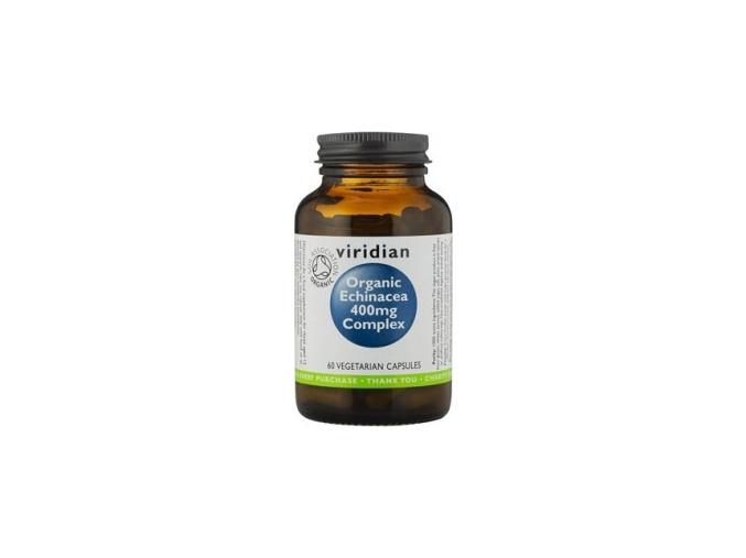 VIRIDIAN nutrition Organic Echinacea 400mg Complex 60 kapslí