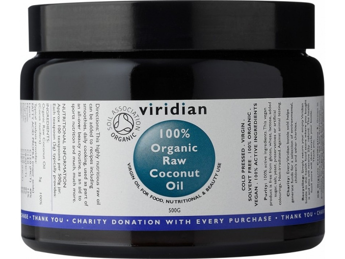 VIRIDIAN nutrition Organic Raw Coconut Oil 500g