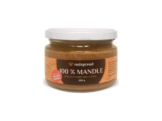 Nutspread 100% Mandlové máslo crunchy 250g