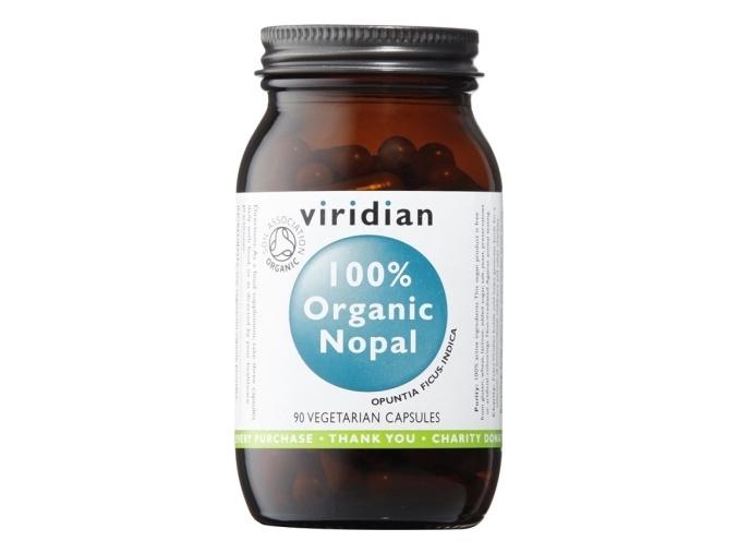 VIRIDIAN nutrition 100% Organic Nopal 90 kapslí