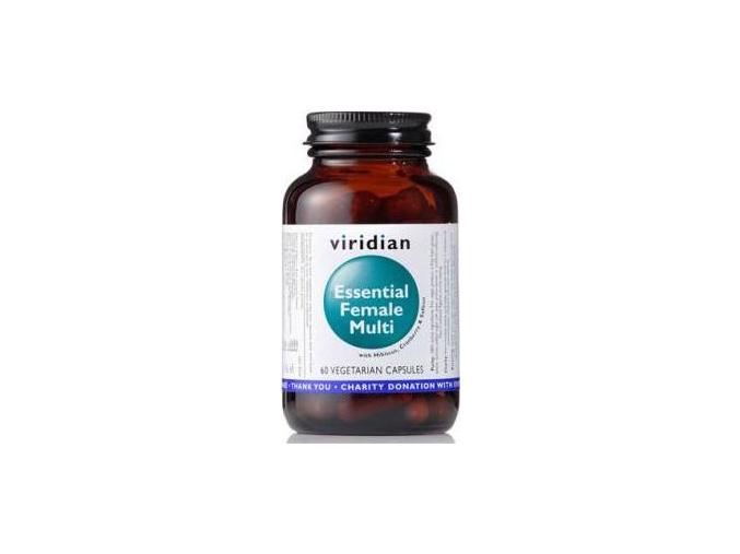 VIRIDIAN nutrition Essential Female Multi 60 kapslí
