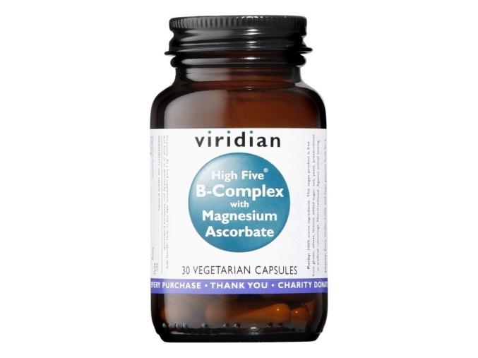 VIRIDIAN nutrition High Five B Complex with Magnesium Ascorbate 90 kapslí
