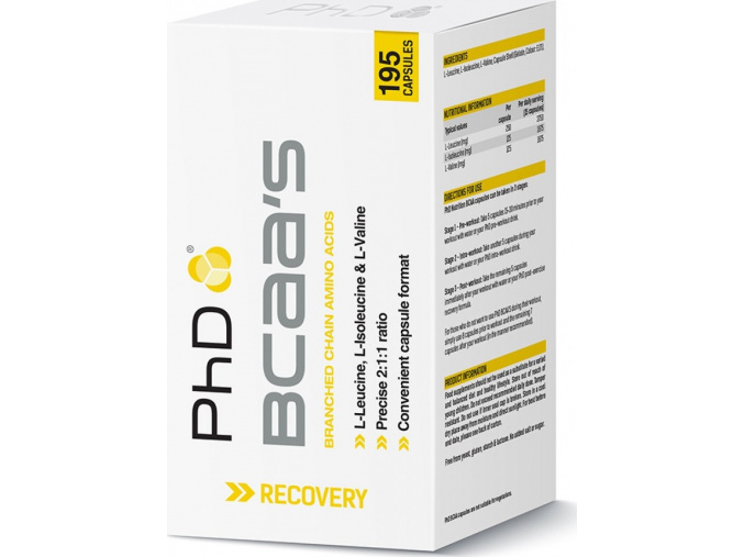 PhD Nutrition Pharma BCAA´s 195 kapslí