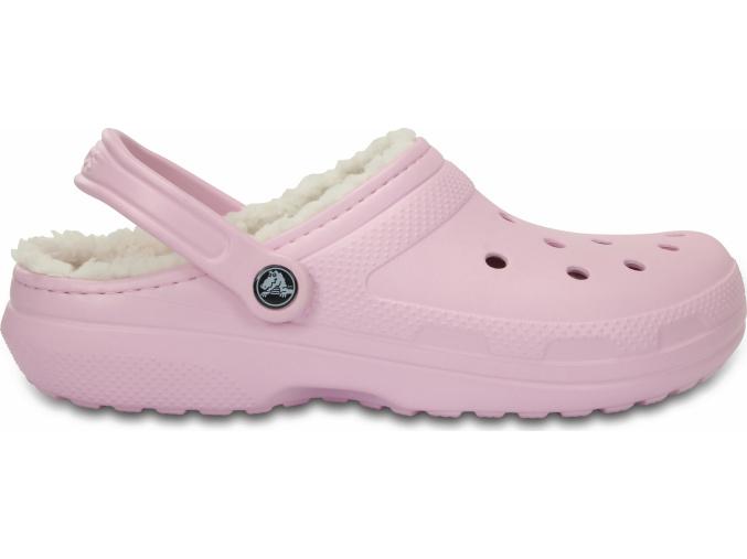 Crocs Classic Lined Clog - Ballerina Pink/Oatmeal