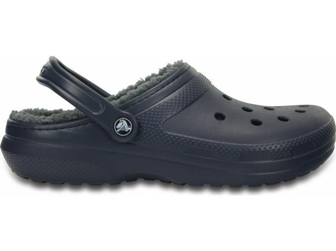 Crocs Classic Lined Clog - Navy/Charcoal