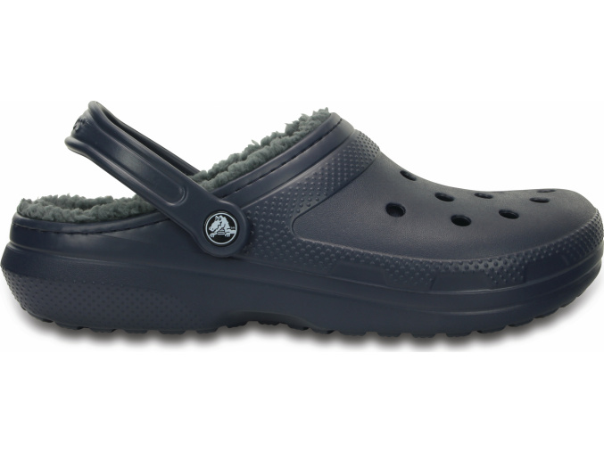 Crocs Classic Lined Clog Navy/Charcoal