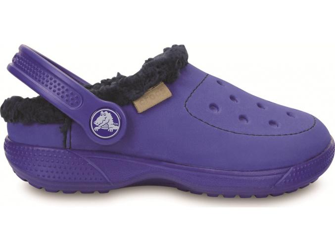 Crocs ColorLite Lined Clog Kids - Cerulean Blue/navy