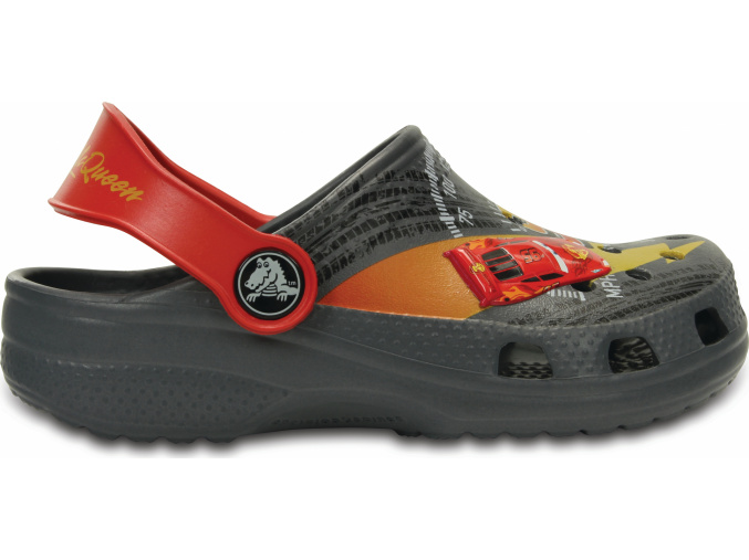 Crocs Classic McQueen Clog K - Charcoal/True Red