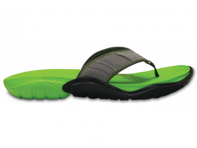 Crocs Swiftwater Flip M - Graphite/Volt Green