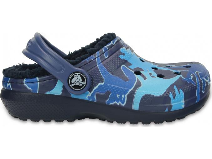 Crocs Classic Lined Graphic Clog K - Blue Camo