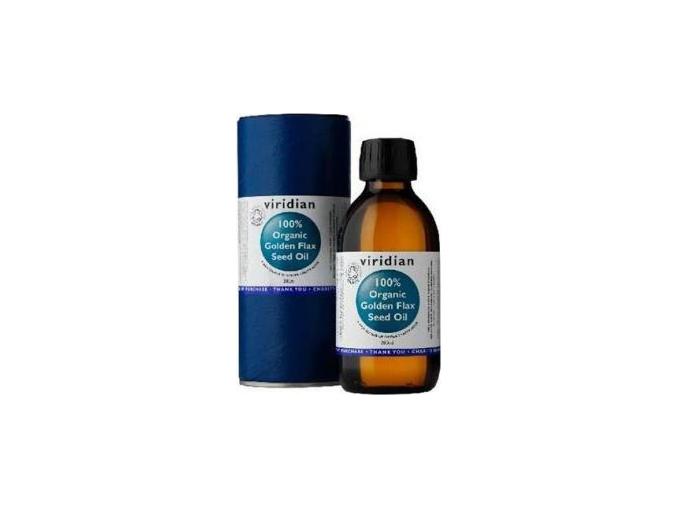 VIRIDIAN nutrition Organic Golden Flax Seed Oil 200ml