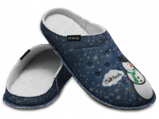 Crocs Classic Graphic Slipper - Navy