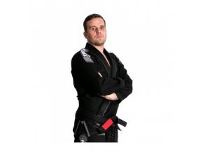 Nova Plus ČERNÉ Tatami fightwear BJJ kimono Gi + bílý pás zdarma (Velikost A0)