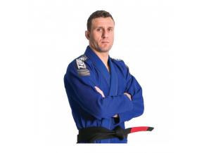 Nova Plus MODRÉ Tatami fightwear BJJ kimono Gi + bílý pás zdarma (Velikost A0)