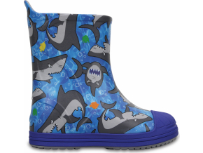 Crocs Bump It Graphic Boot - Cerulean Blue/Multi