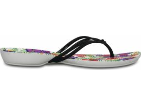 Crocs Isabella Graphic Flip W - Black/Floral