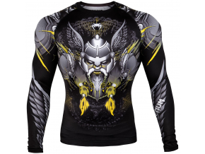 rashguard venum viking 2.0 black yellow 01
