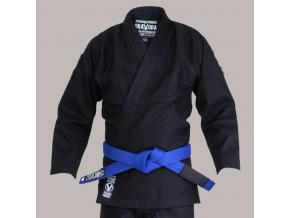 bjj gi kimono valor bravura classic plain modre cerne f1
