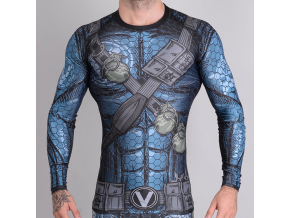 rashguard valor assassin blue f1