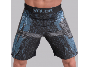 trenky sortky mma valor assassin blue f1