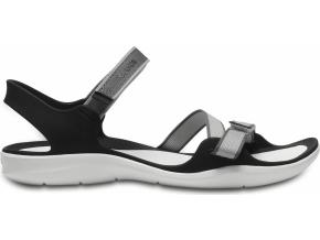Crocs Swiftwater Webbing Sandal W - Pearl White