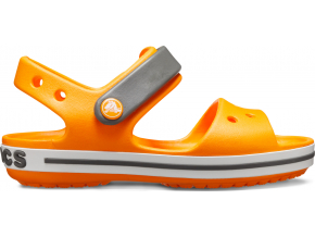 Crocs Crocband Sandal Kids - Orange/Slate Grey