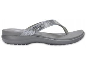 crocs capri sequin silver f2