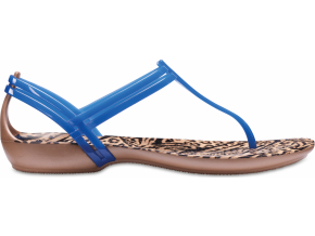 Crocs Isabella Graphic T-strap - Blue Jean/Animal