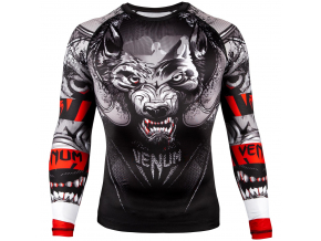 rashguard venum werewolf ls black grey fightexpert f1
