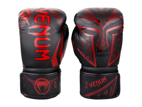 boxovaci rukavice venum gladiator black red box fightexpert f1
