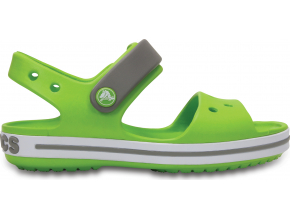 Crocs Crocband Sandal Kids - Volt Green/Smoke