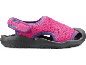 Crocs Swiftwater Sandal Kids - Neon Magenta/Slate Grey