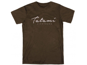 tshirt triko tatami script khaki fightexpert f1