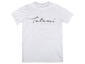 tshirt triko tatami script bile white fightexpert f1