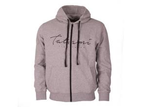 hoodie mikina tatami script seda grey f1
