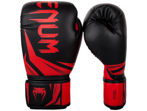 boxing gloves venum rukavice challenger 3.0 black red f1