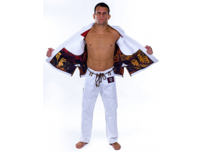 bjj kimono gi kingz white knight limited edition bile f6