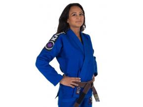 bjj kimono gi kingz basic 2.0 woman modre f1