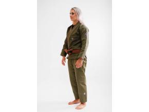 bjj kimono gi kingz balistico 2.0 woman military green f2