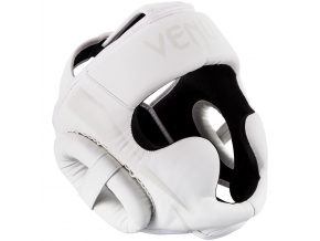 headgear box mma venum elite white white f1