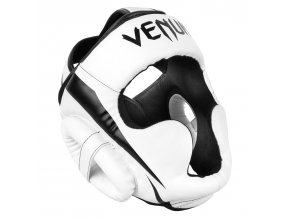 headgear box mma venum elite white black f1