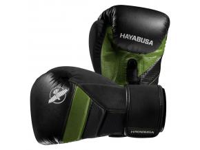 hayabusa boxerske rukavice t3 cerne zelene f1