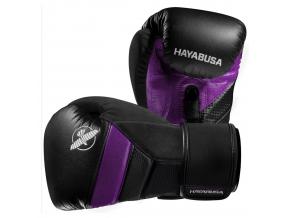 hayabusa boxerske rukavice t3 cerne fialove f1