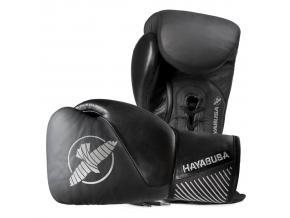 boxerske rukavice hayabusa classic laced 12oz cerne f1