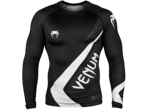 rashguard venum long sleeve contender4 black white f1