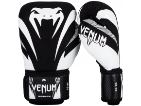 boxing gloves venum impact black white f1
