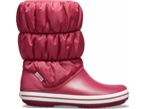 Crocs Winter Puff Boot Women - Pomegranate/White